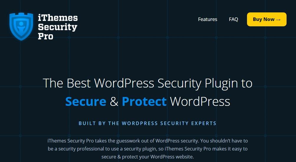 ithemes security من أهم إضافات الحماية للوردبريس